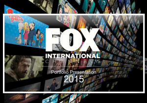 Fox International Channels Portfolio presentation - Gary Eastwood copywriter